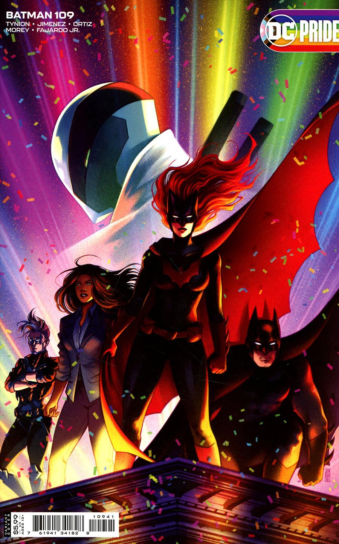 Batman Vol 3 #109 Cover C Variant Jen Bartel Pride Month Card Stock Cover