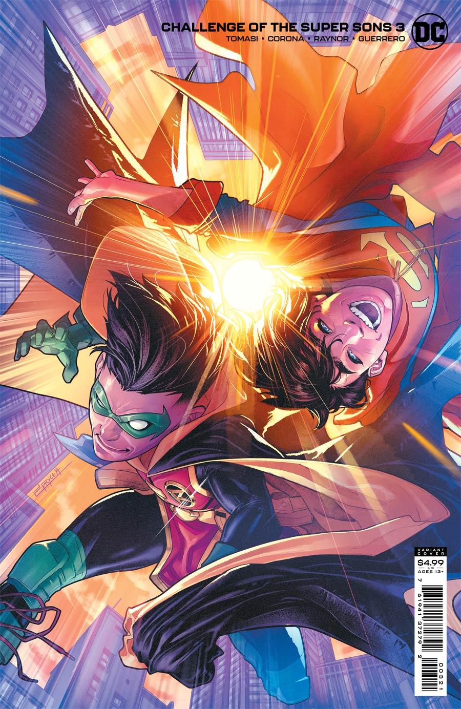 Challenge Of The Super Sons #3 Cover B Variant Jamal Campbell Card Stock Cover