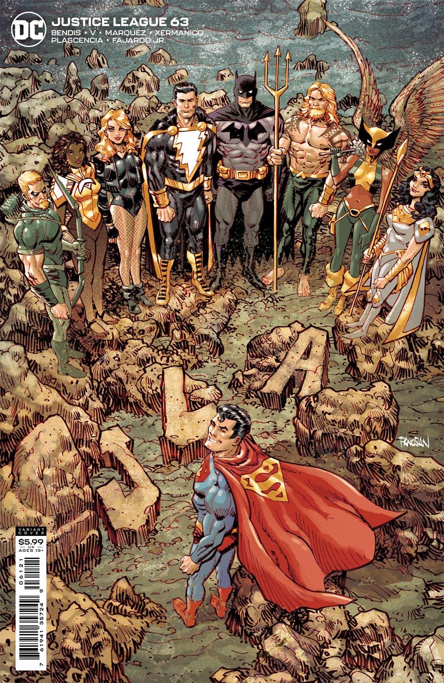 Justice League Vol 4 #63 Cover B Variant Dan Panosian Card Stock Cover