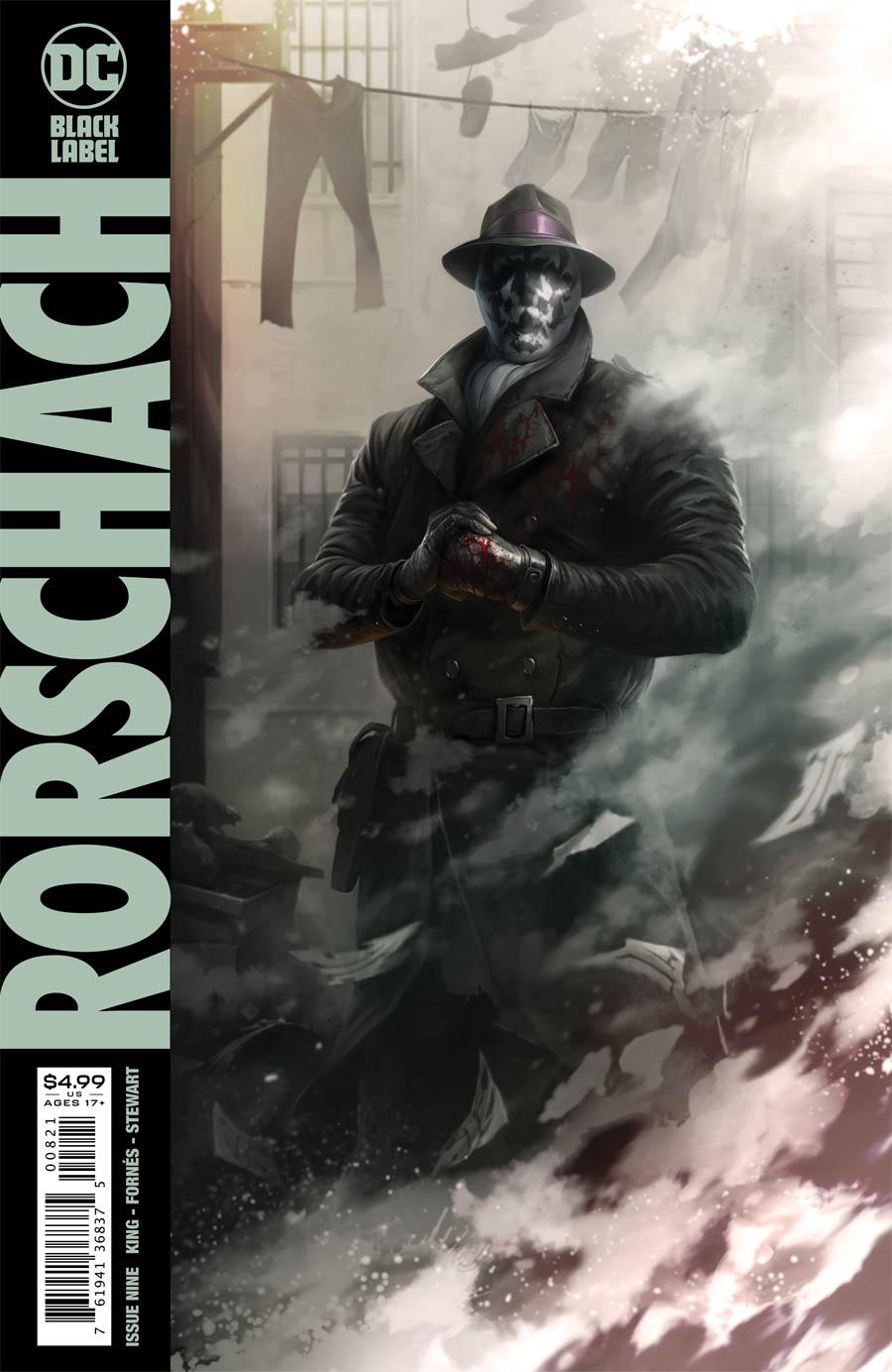 Rorschach #9 Cover B Variant Francesco Mattina Card Stock Cover