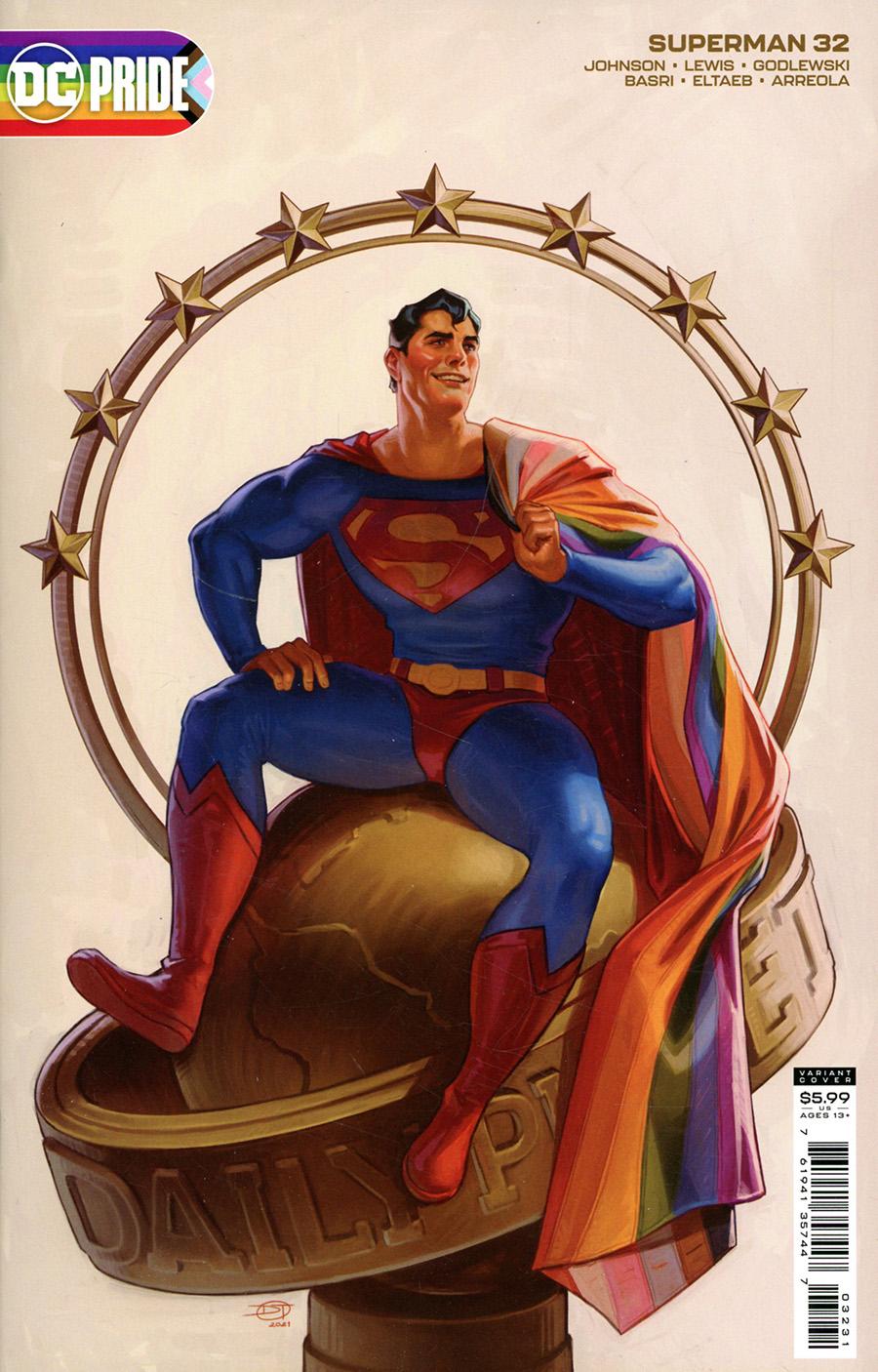 Superman Vol 6 #32 Cover C Variant David Talaski Pride Month Card Stock Cover