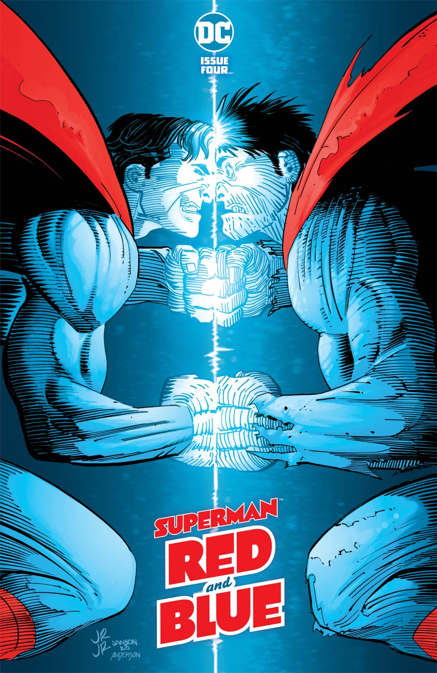 Superman Red & Blue #4 Cover A Regular John Romita Jr & Klaus Janson Cover