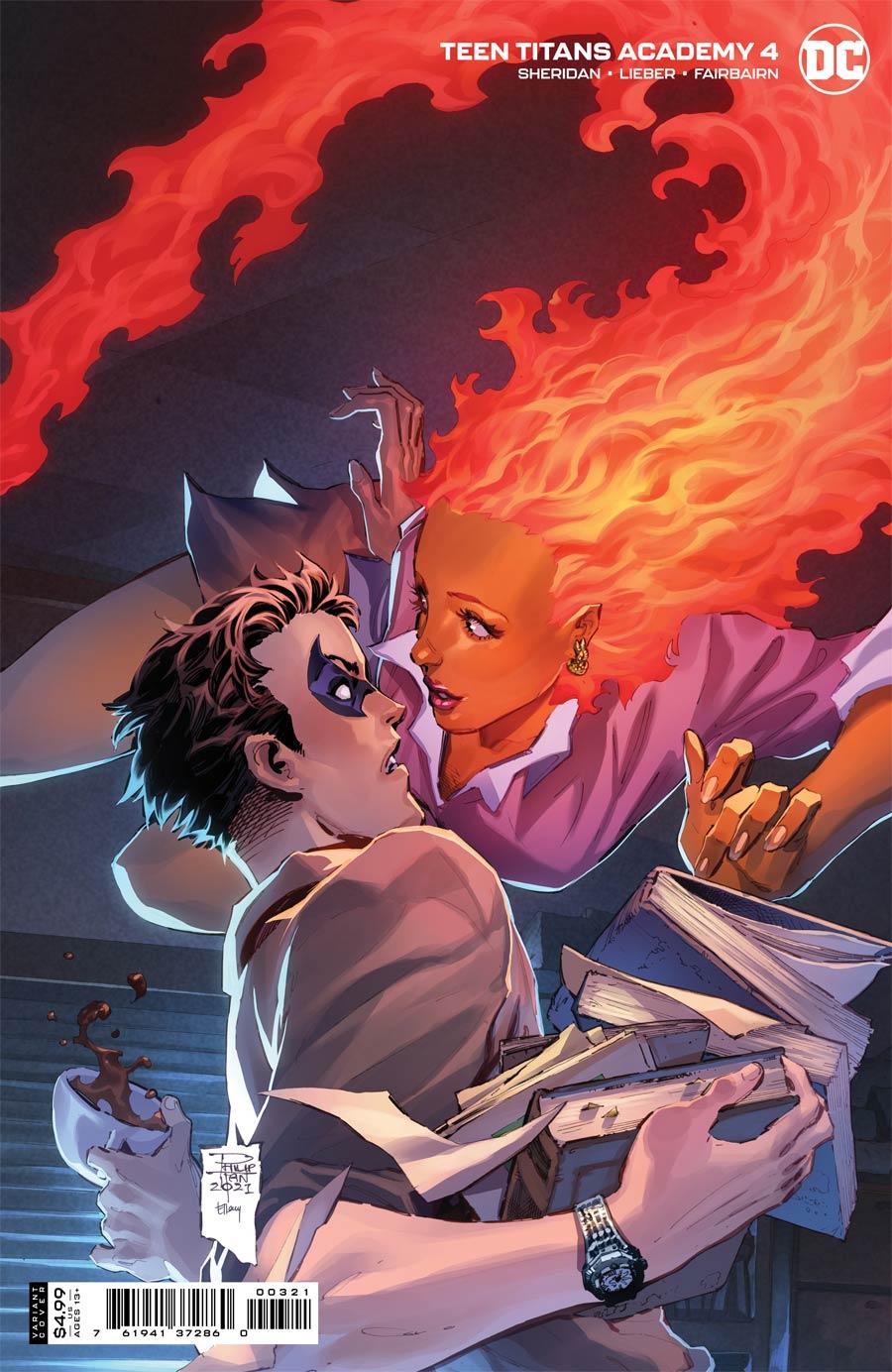 Teen Titans Academy #4 Cover B Variant Philip Tan Card Stock Cover
