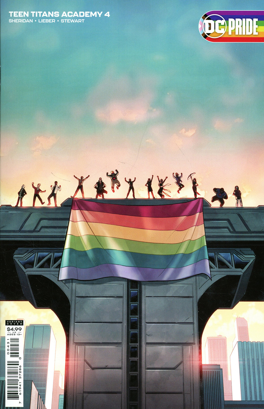 Teen Titans Academy #4 Cover C Variant Pride Month Card Stock Cover