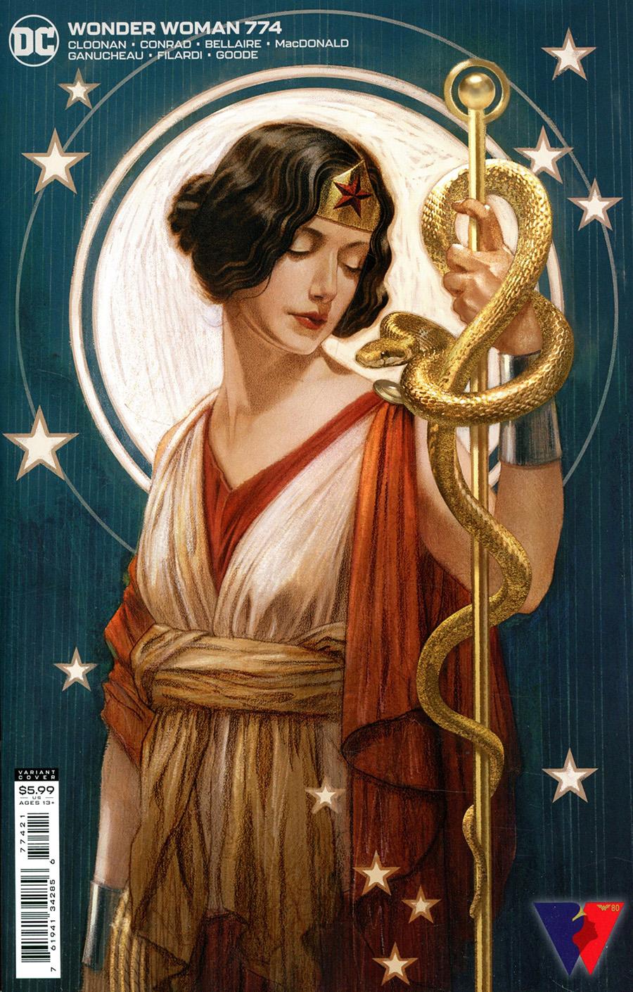 Wonder Woman Vol 5 #774 Cover B Variant Joshua Middleton Card Stock Cover