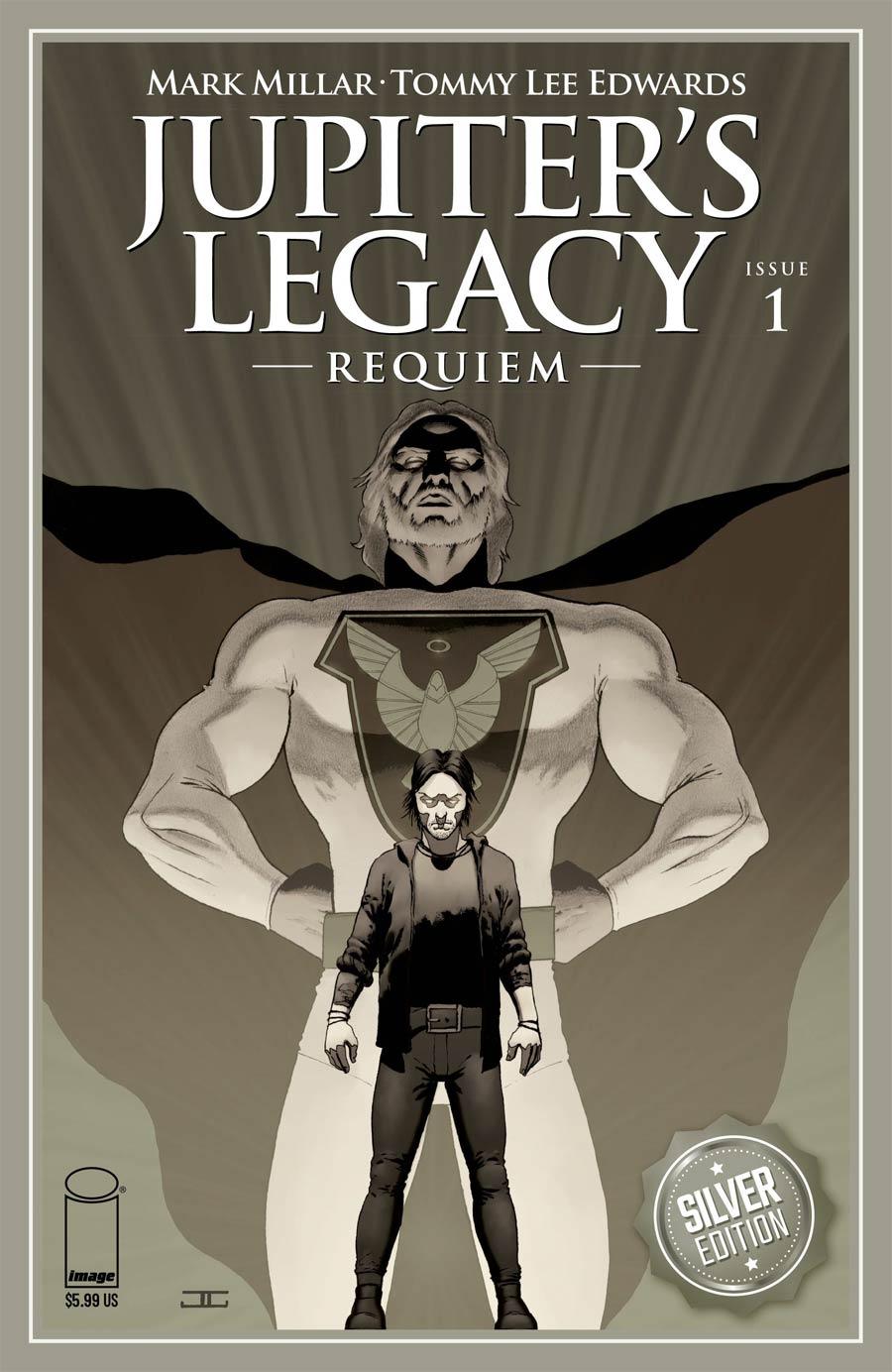 Jupiters Legacy Requiem #1 Cover H Incentive John Cassaday Silver Foil Variant Cover