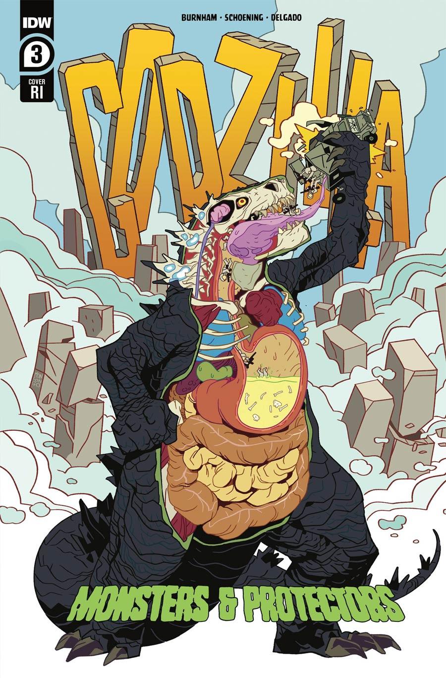 Godzilla Monsters & Protectors #3 Cover C Incentive Jorge Monlongo Variant Cover