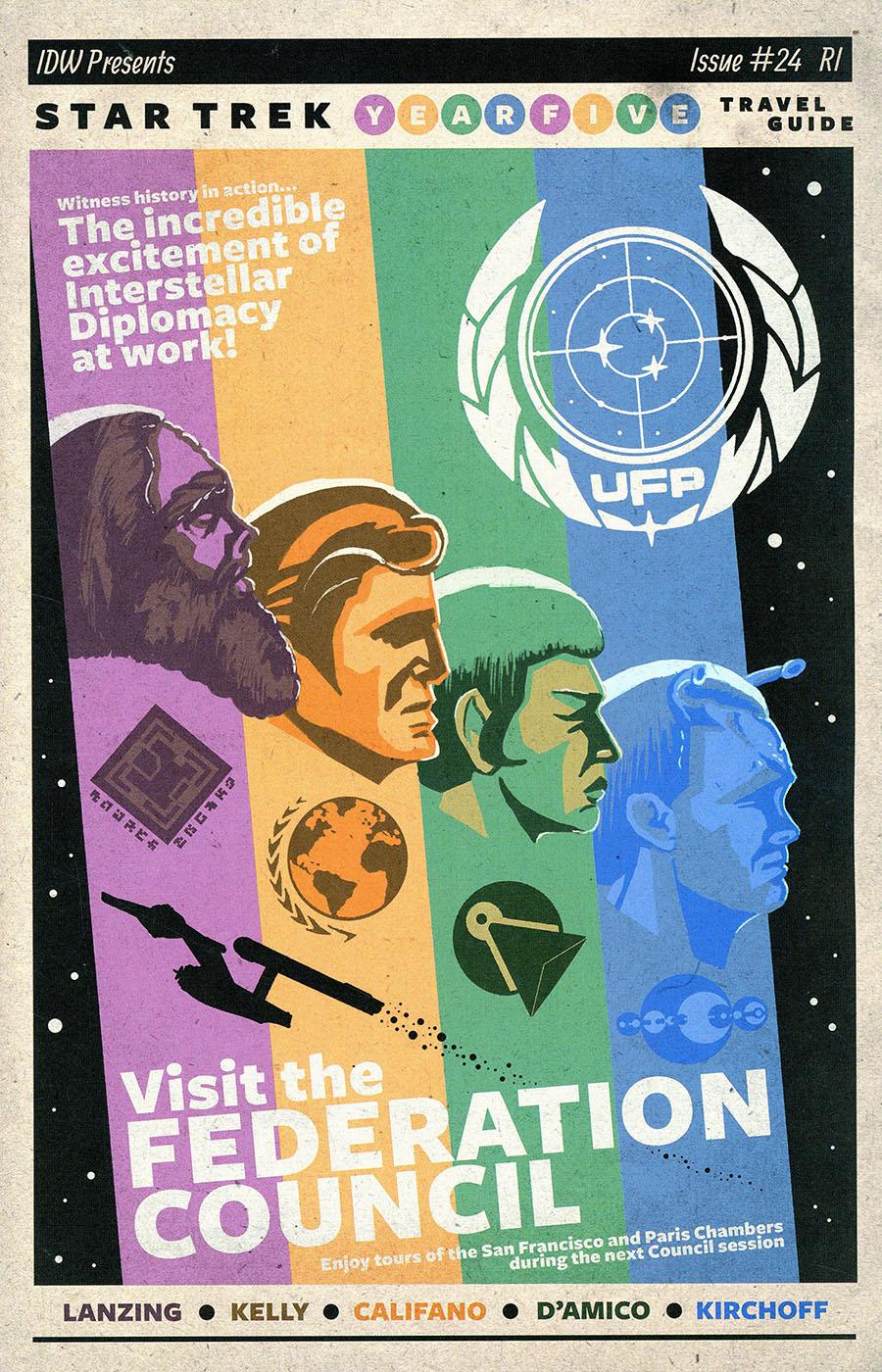Star Trek Year Five #24 Cover B Incentive JJ Lendl Variant Cover