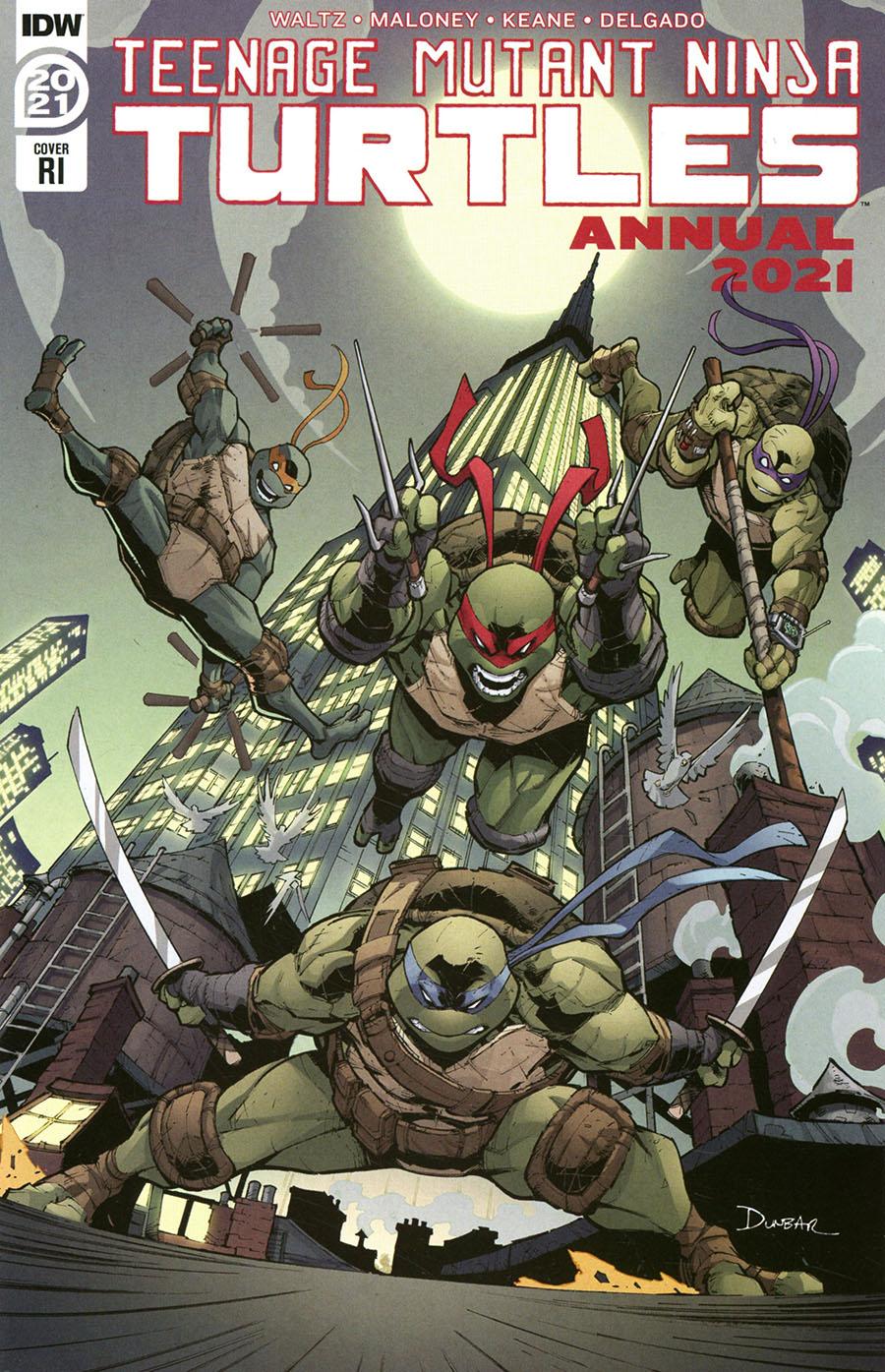 Teenage Mutant Ninja Turtles Vol 5 Annual 2021 Cover C Incentive Max Dunbar Variant Cover