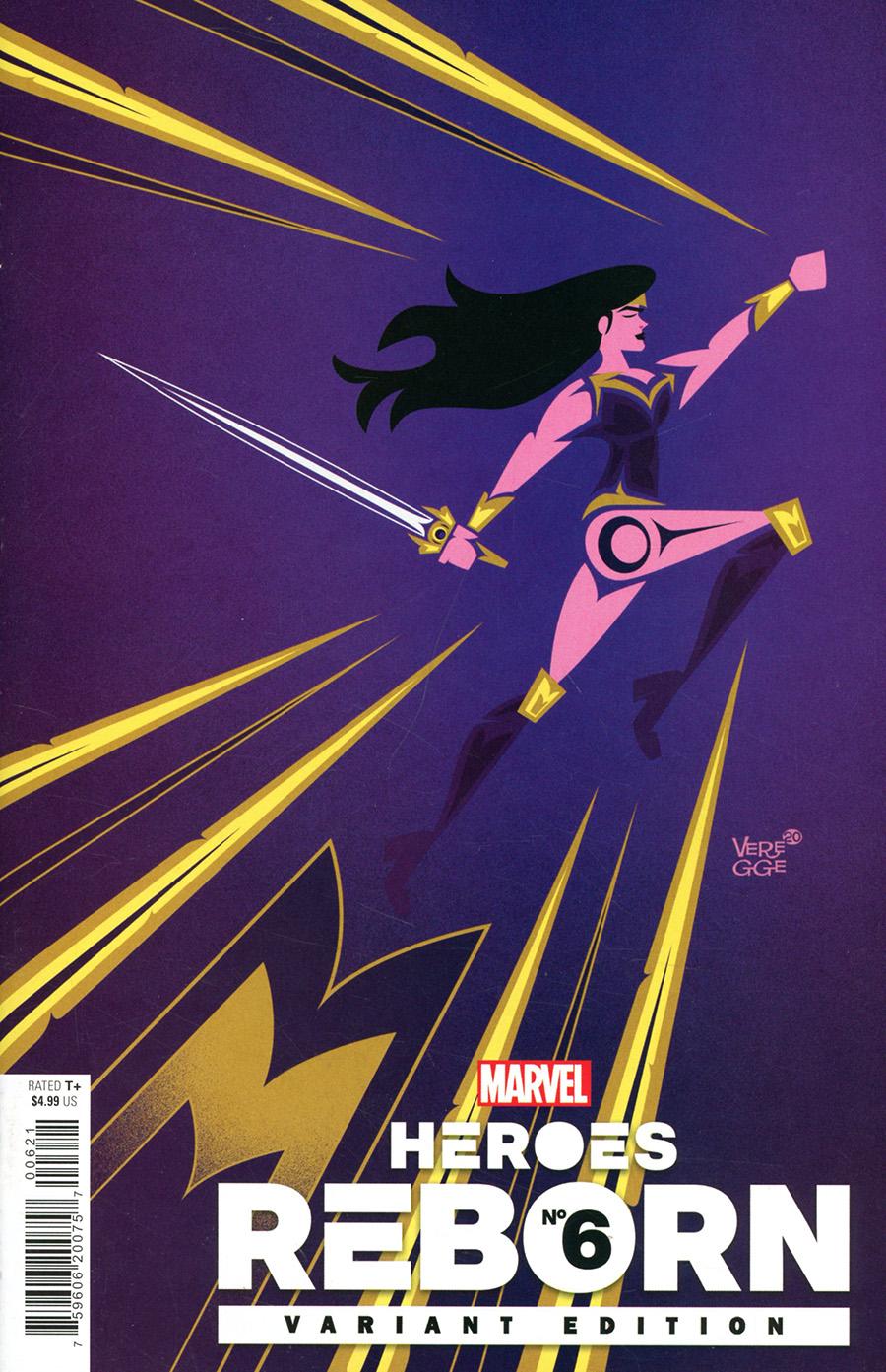 Heroes Reborn #6 Cover F Incentive Jeffrey Veregge Variant Cover