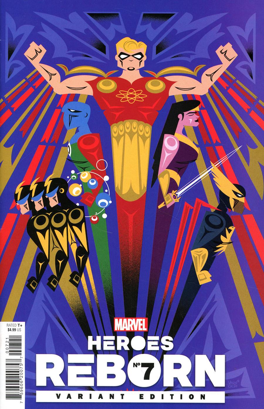 Heroes Reborn #7 Cover F Incentive Jeffrey Veregge Variant Cover