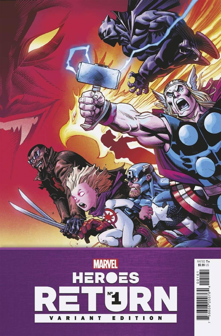 Heroes Return #1 (One Shot) Cover E Incentive Ed McGuinness Variant Cover