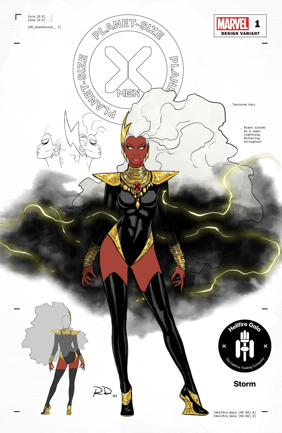 Planet-Size X-Men #1 (One Shot) Cover G Incentive Russell Dauterman Storm Character Design Variant Cover (Hellfire Gala Tie-In)