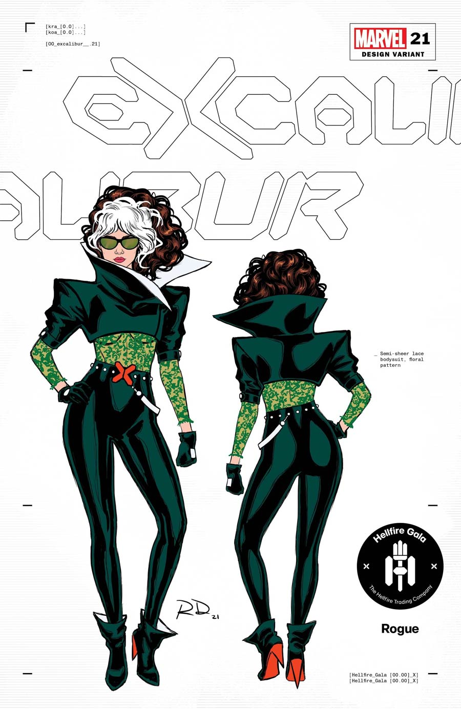 Excalibur Vol 4 #21 Cover D Incentive Russell Dauterman Rogue Character Design Variant Cover (Hellfire Gala Tie-In)