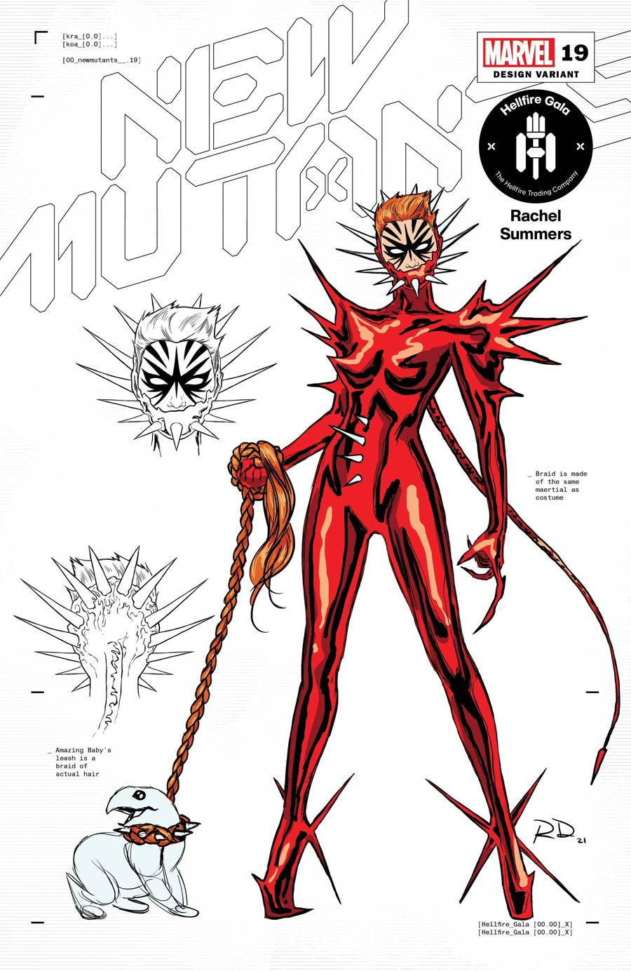 New Mutants Vol 4 #19 Cover D Incentive Russell Dauterman Rachel Summers Character Design Variant Cover (Hellfire Gala Tie-In)