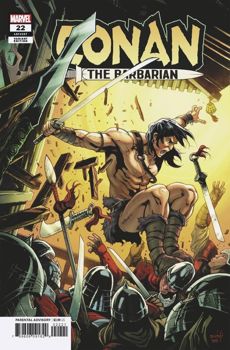 Conan The Barbarian Vol 4 #22 Cover B Incentive Valerio Schiti Variant Cover