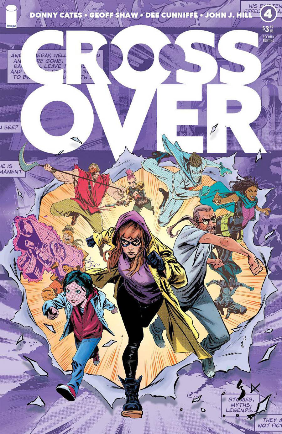 Crossover #4 Cover H 2nd Ptg