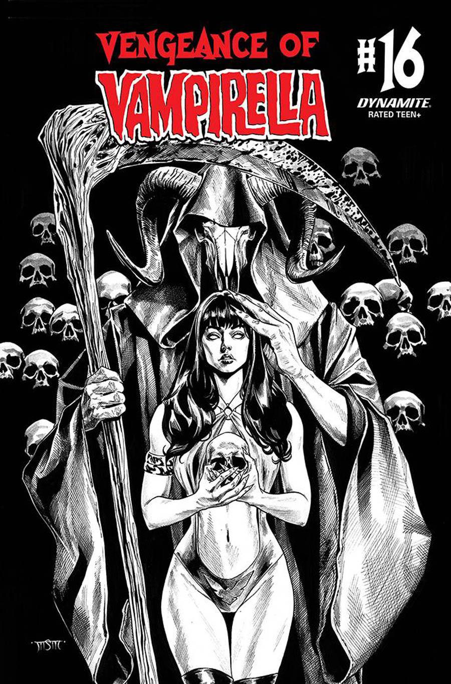 Vengeance Of Vampirella Vol 2 #16 Cover G Incentive Michael Sta Maria Black & White Cover