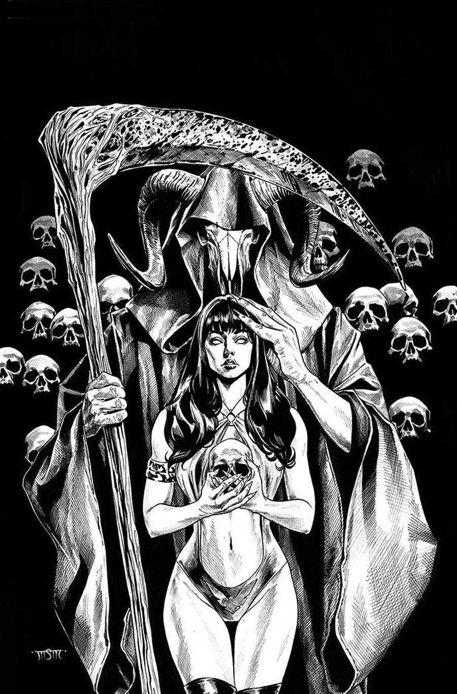 Vengeance Of Vampirella Vol 2 #16 Cover J Incentive Michael Sta Maria Black & White Virgin Cover