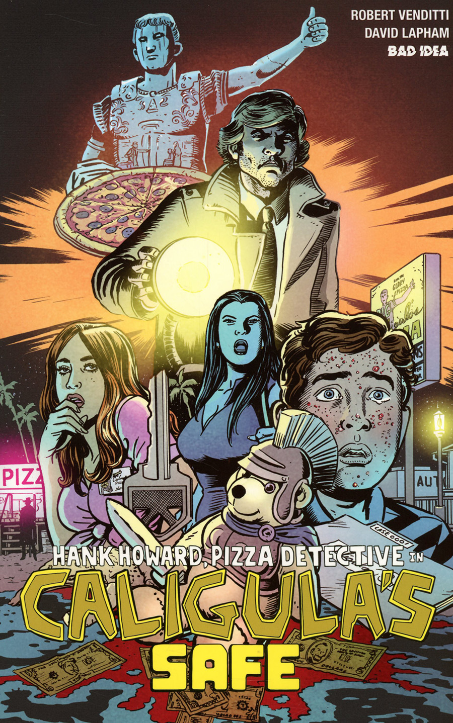 Hank Howard Pizza Detective In Caligulas Safe #1 (One Shot)(Limit 1 Per Customer)