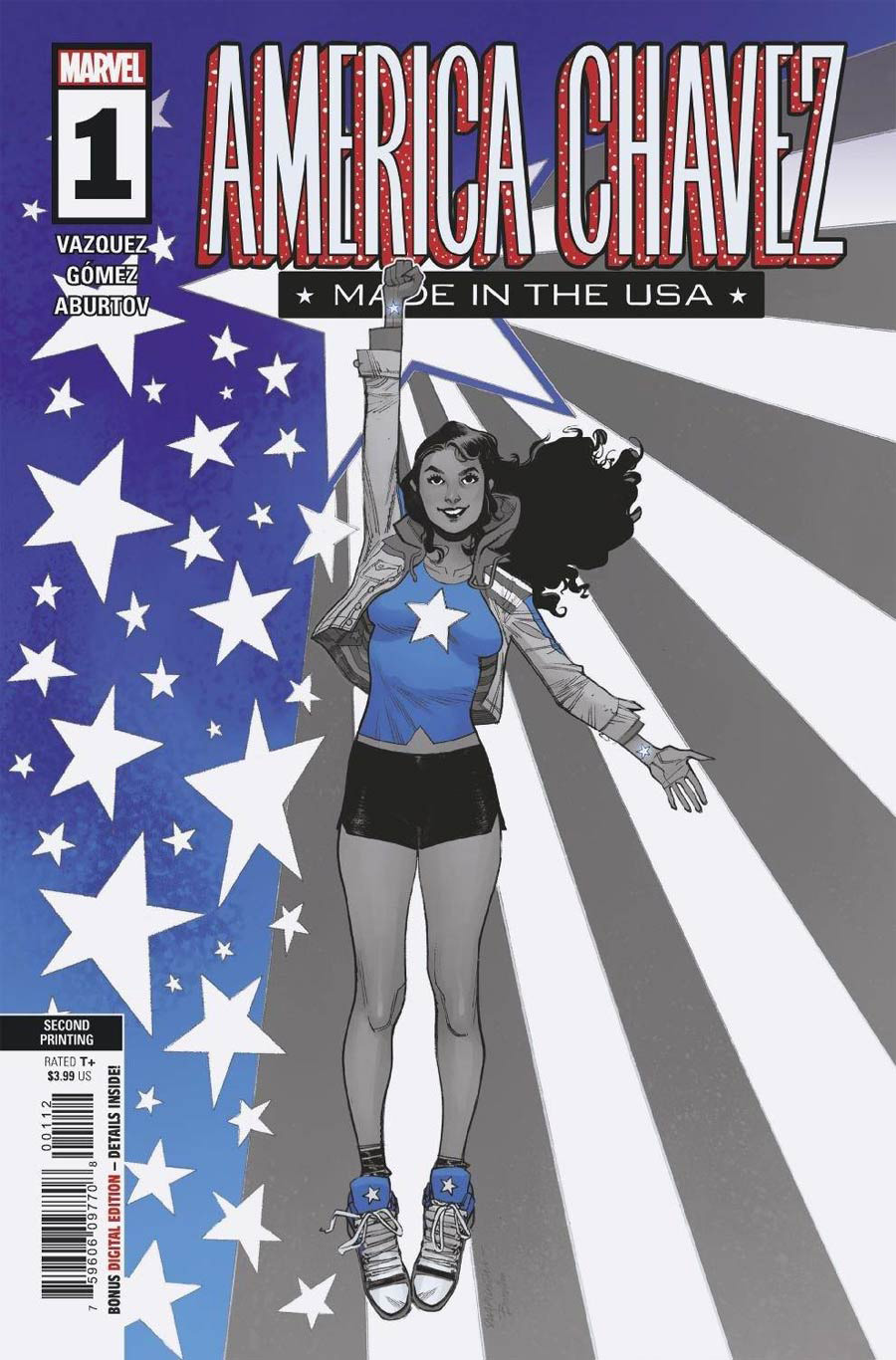 America Chavez Made In The USA #1 Cover E 2nd Ptg Sara Pichelli Variant Cover
