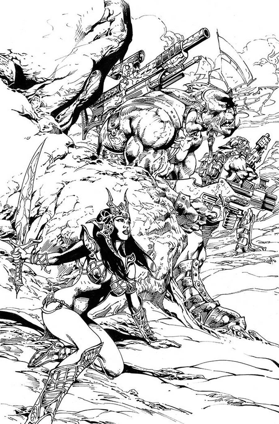 Dejah Thoris Vol 3 #12 Cover I Incentive Roberto Castro Black & White Virgin Cover