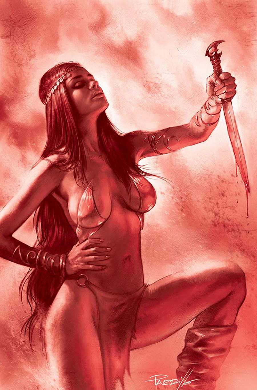 Dejah Thoris Vol 3 #12 Cover L Incentive Lucio Parrillo Tint Virgin Red Cover