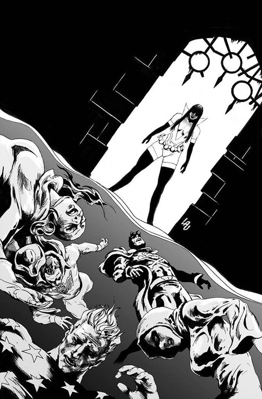 Vampirella The Dark Powers #5 Cover K Incentive Jonathan Lau Black & White Virgin Cover