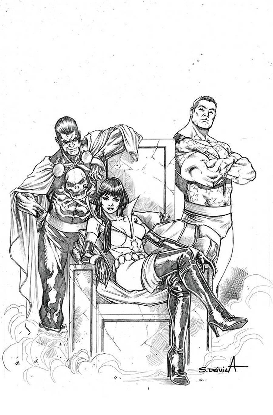 Vampirella The Dark Powers #5 Cover M Incentive Sergio Davila Black & White Virgin Cover