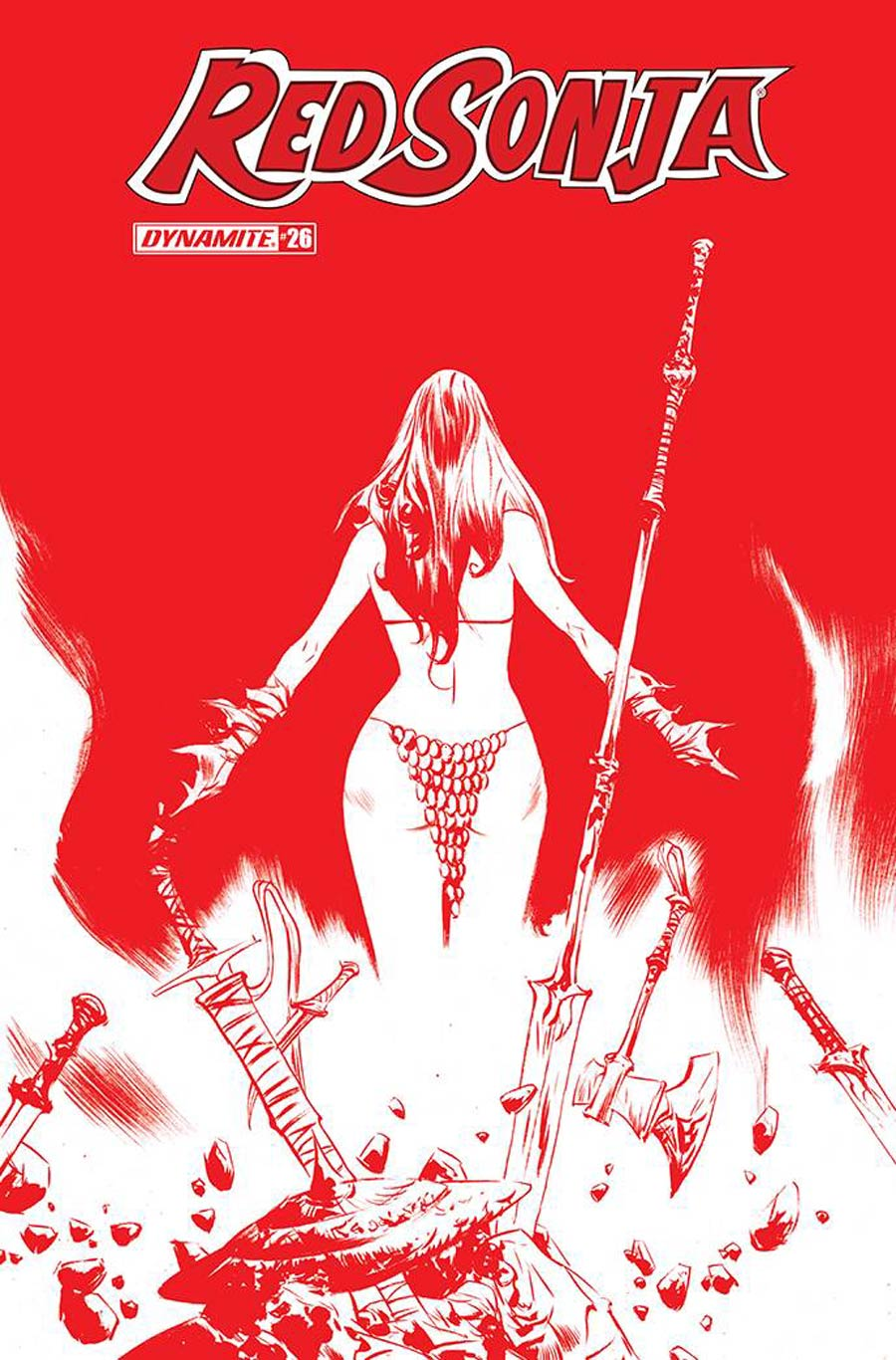 Red Sonja Vol 8 #26 Cover M Incentive Jae Lee Tint Cover
