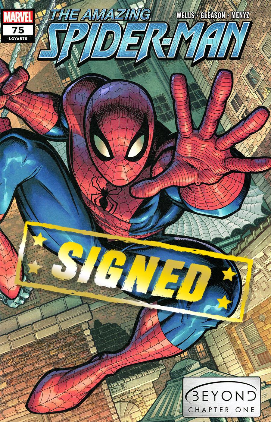 Amazing Spider-Man Vol 5 #75 Cover N Regular Arthur Adams Wraparound Cover Signed By Zeb Wells