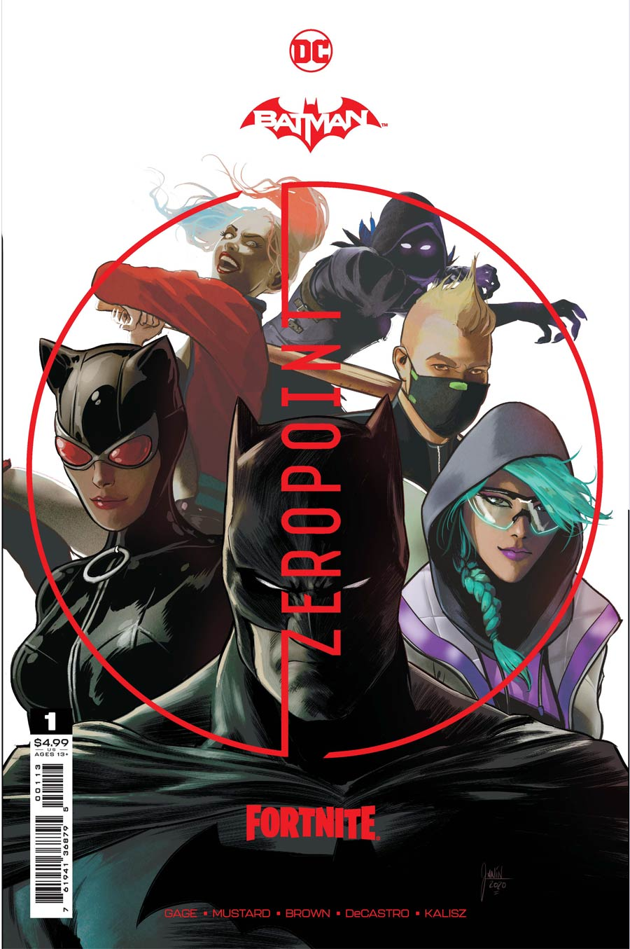 Batman Fortnite Zero Point #1 Cover D 3rd Ptg Mikel Janin Recolored White Variant Cover