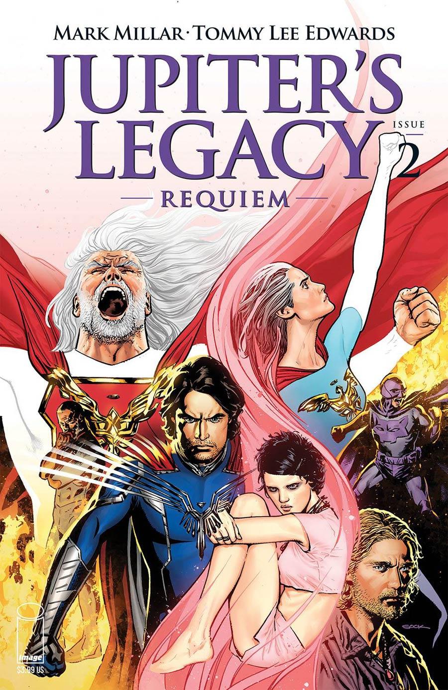 Jupiters Legacy Requiem #2 Cover B Variant Ryan Sook Color Cover