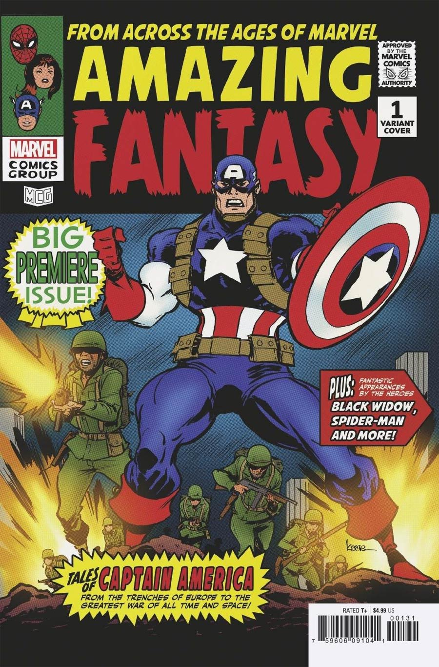 Amazing Fantasy Vol 3 #1 Cover B Variant Kaare Andrews Cover