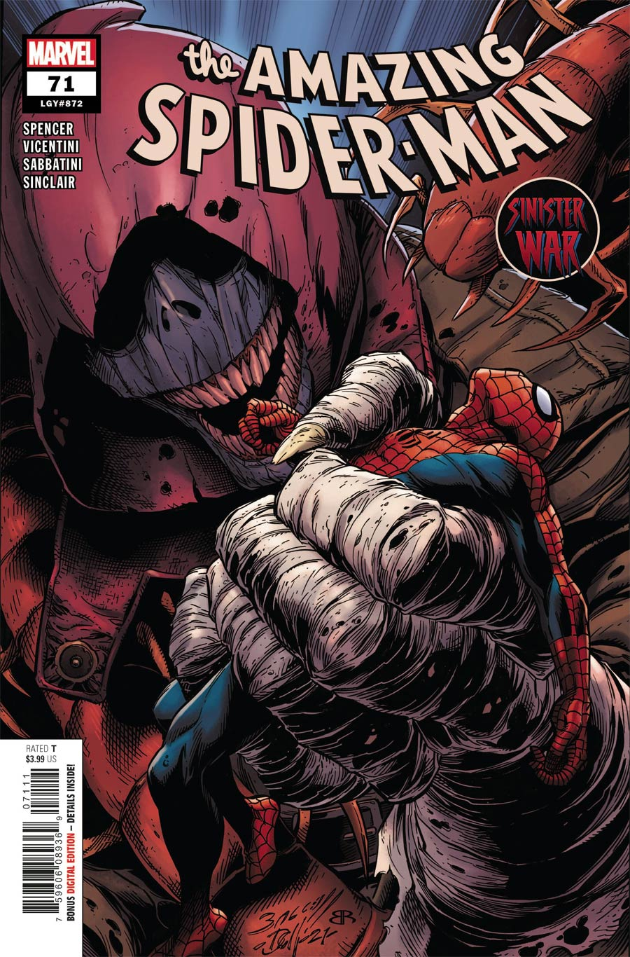Amazing Spider-Man Vol 5 #71 Cover A Regular Mark Bagley Cover (Sinister War Tie-In)