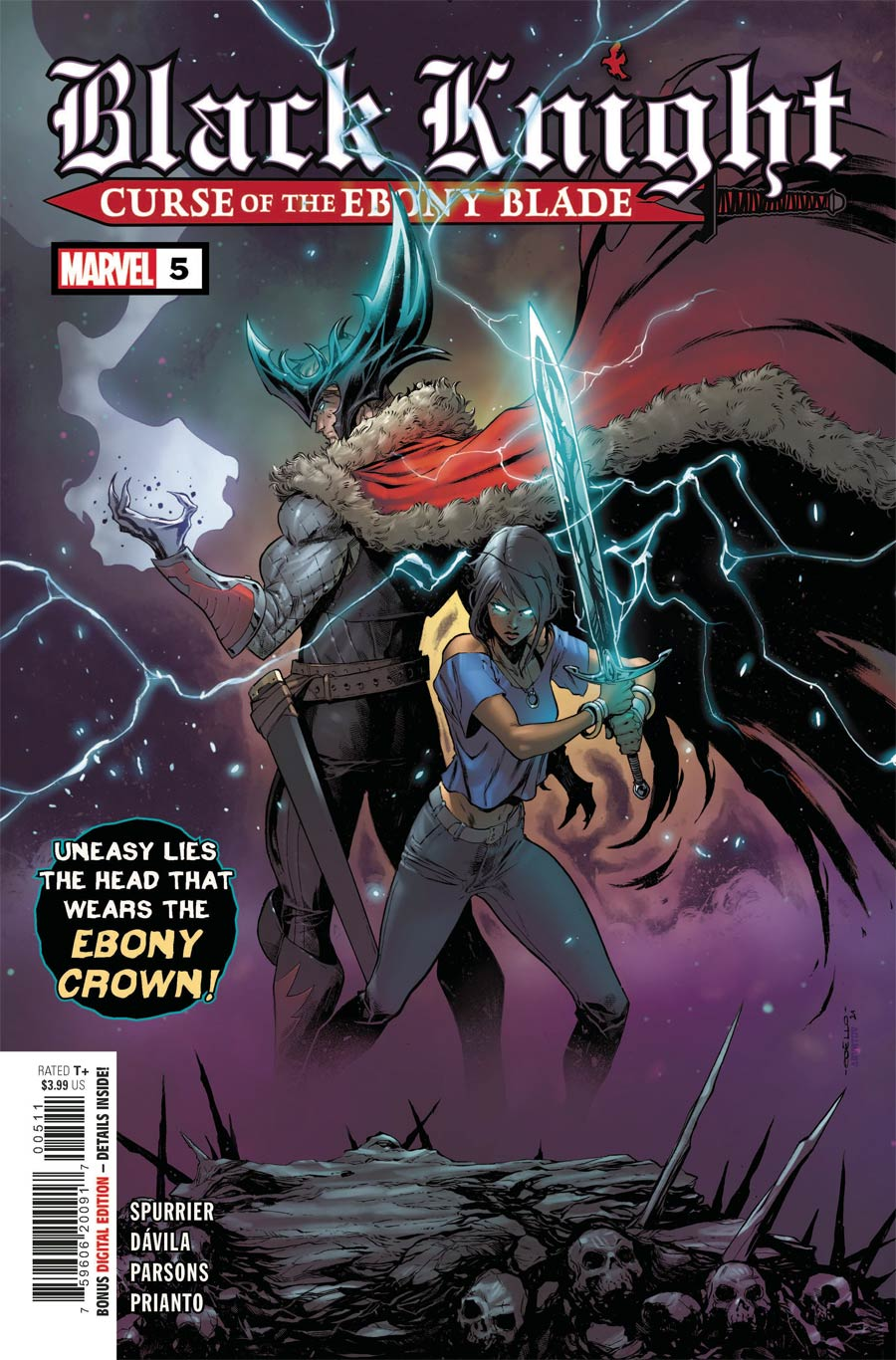 Black Knight Curse Of The Ebony Blade #5 Cover A Regular Iban Coello Cover