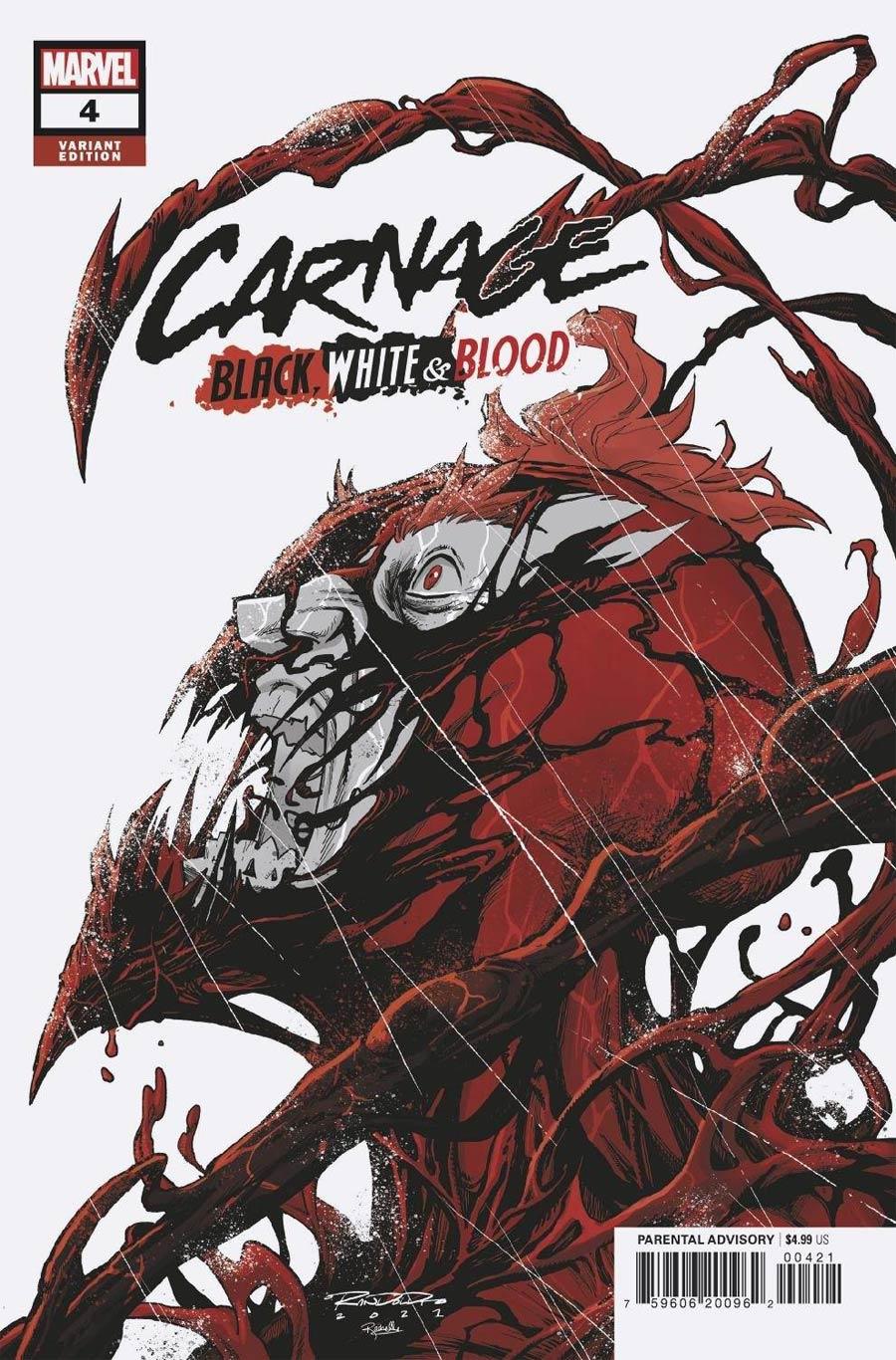 Carnage Black White & Blood #4 Cover B Variant Khary Randolph Cover