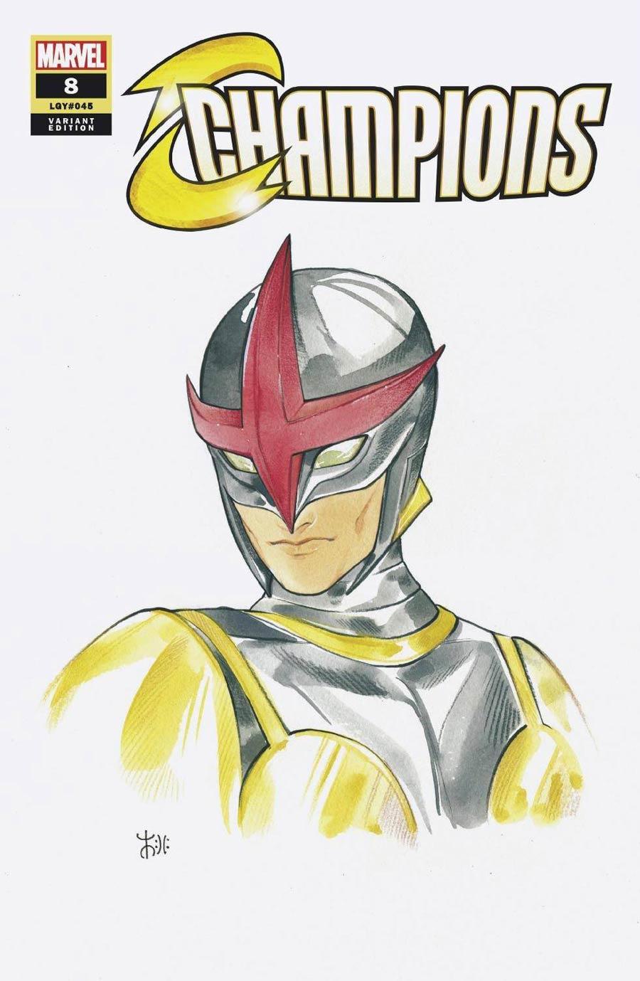 Champions (Marvel) Vol 4 #8 Cover B Variant Peach Momoko Marvel Anime Cover