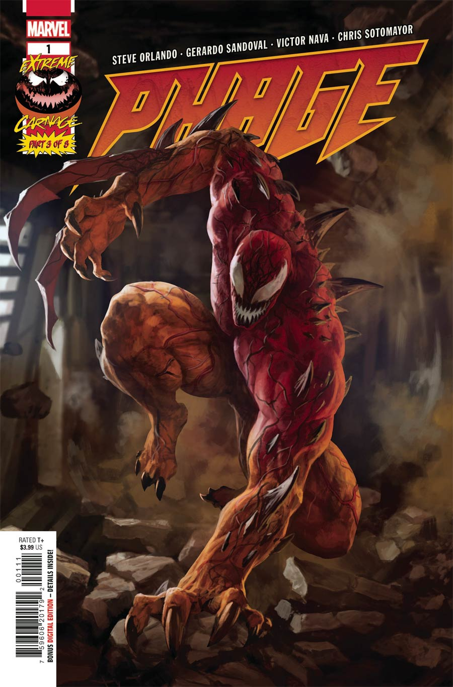 Extreme Carnage Phage #1 (One Shot) Cover A Regular Skan Cover