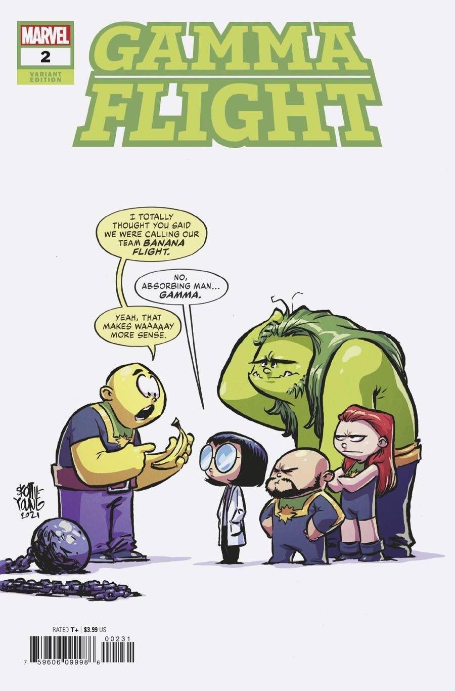 Gamma Flight #2 Cover C Variant Skottie Young Cover