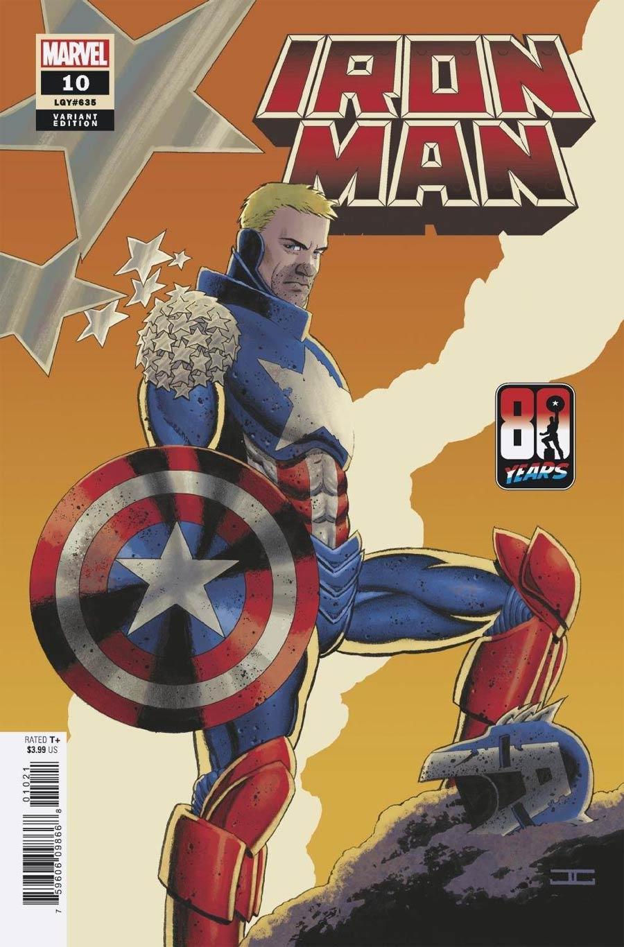 Iron Man Vol 6 #10 Cover B Variant John Cassaday Captain America 80th Anniversary Cover