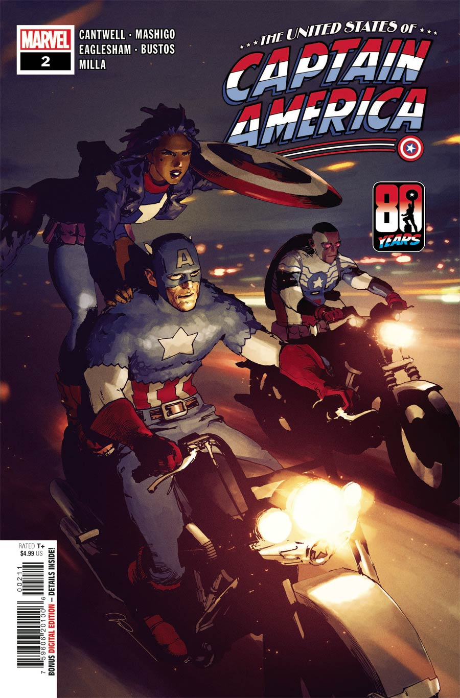 United States Of Captain America #2 Cover A Regular Gerald Parel Cover (Limit 1 Per Customer)
