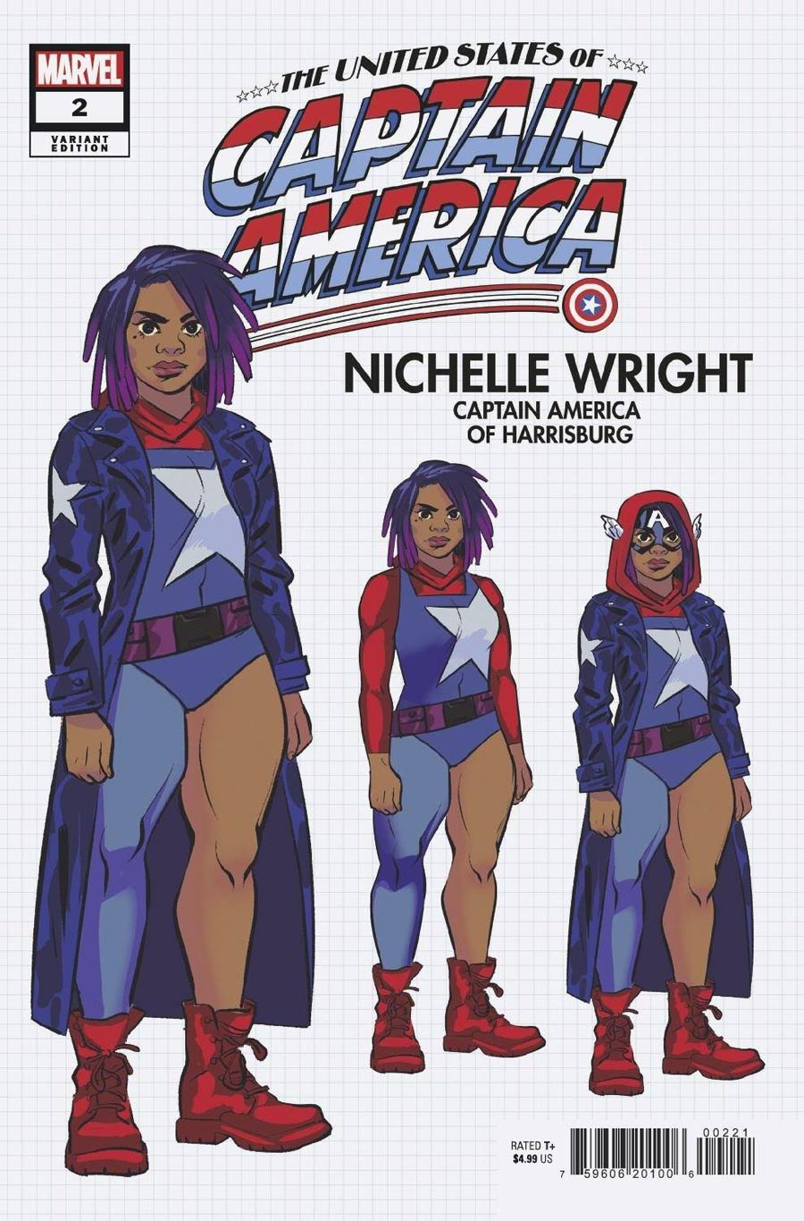 United States Of Captain America #2 Cover B Variant Natacha Bustos Design Cover (Limit 1 Per Customer)
