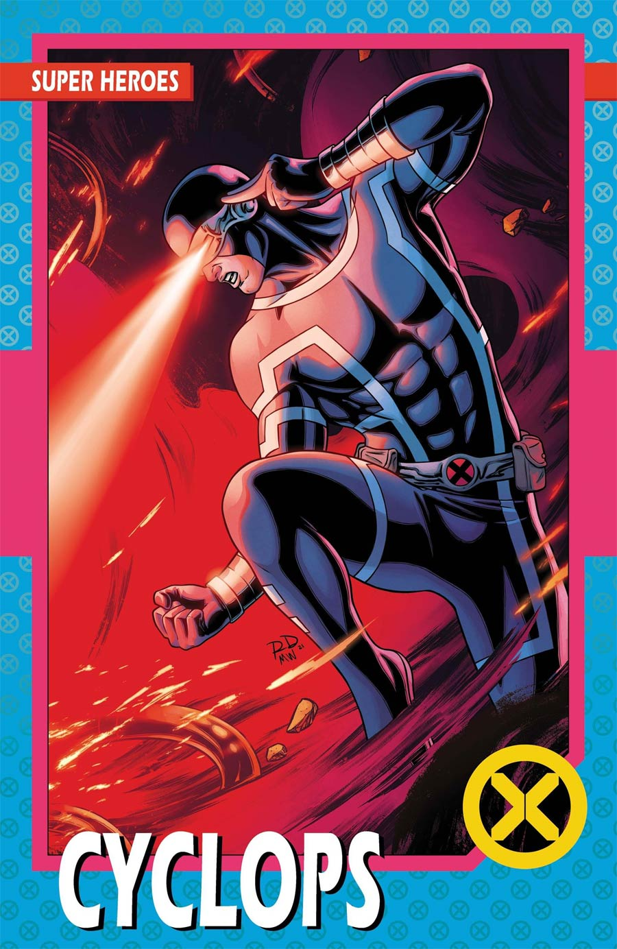 X-Men Vol 6 #1 Cover C Variant Russell Dauterman New Line-Up Trading Card Cover