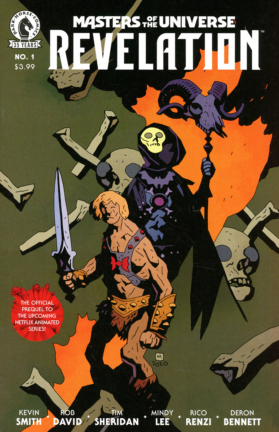 Masters Of The Universe Revelation #1 Cover B Variant Mike Mignola & Dave Stewart Cover
