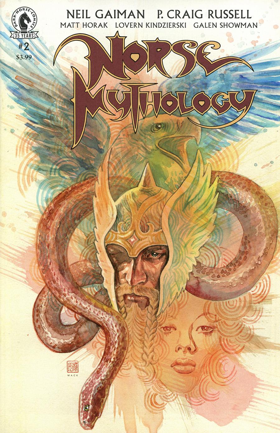 Neil Gaiman Norse Mythology II #2 Cover B Variant David Mack Cover