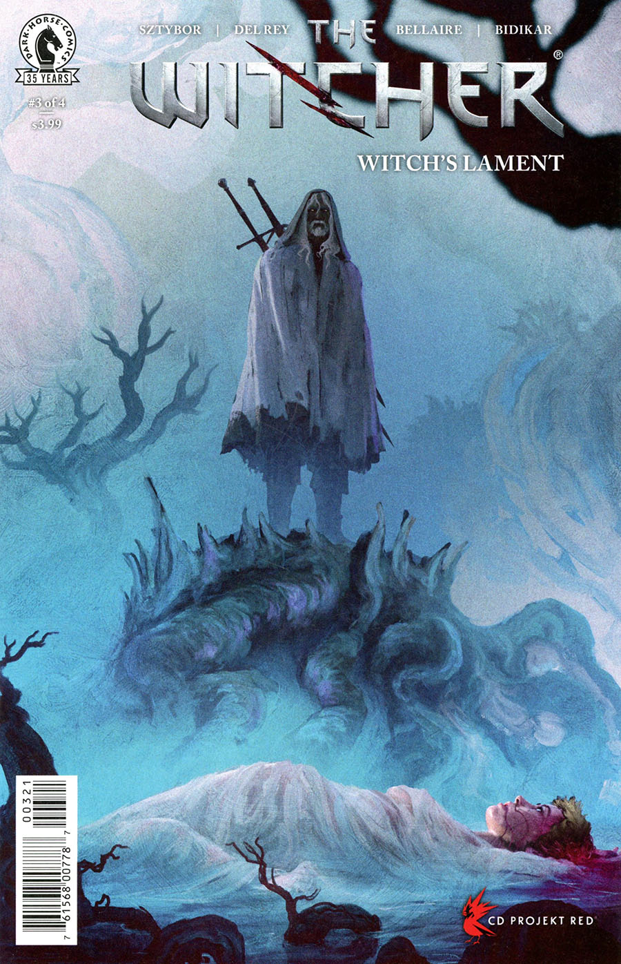 Witcher Witchs Lament #3 Cover B Variant Anato Finnstark Cover