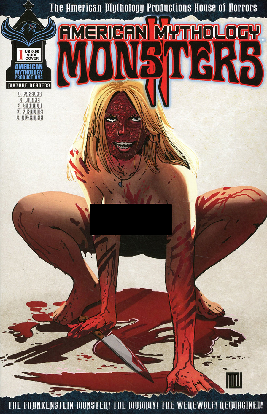 American Mythology Monsters Vol 2 #1 Cover B Variant Mike Wolfer Racy Cover