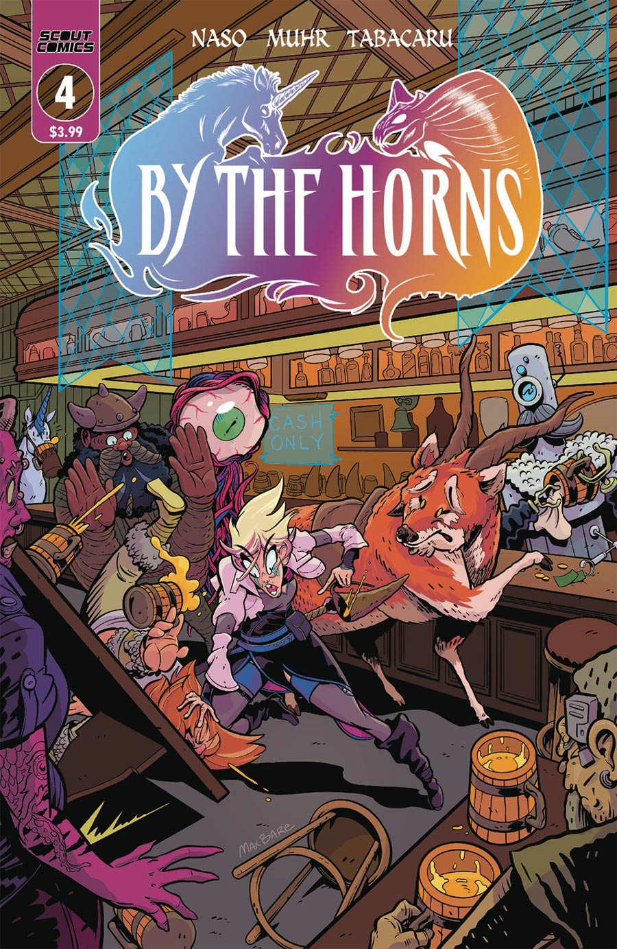 By The Horns #4 Cover B Variant Mark Dos Santos Max Bare Cover