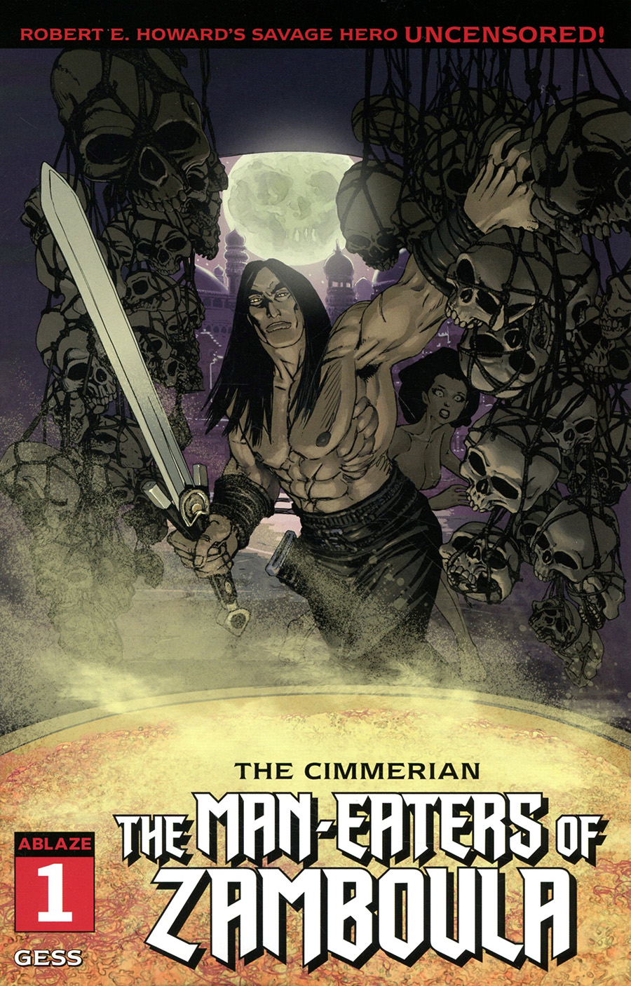 Cimmerian Man-Eaters Of Zamboula #1 Cover C Variant Gess Cover